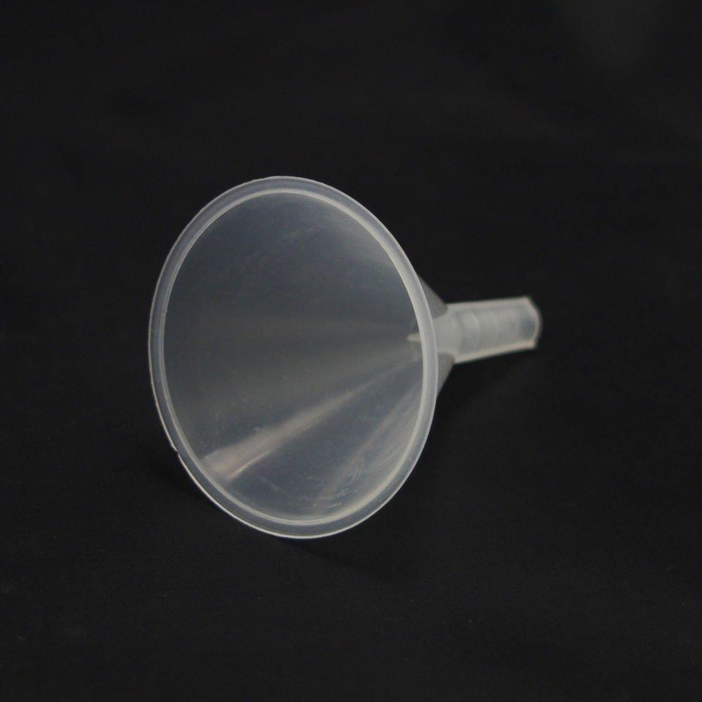 lot4 50mm plastic funnel for kitchen&lab short stem