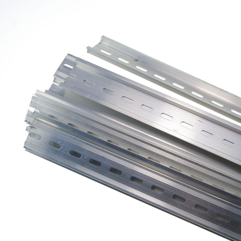 2PCS 0.5 Meter Length Aluminum U-Groove Slotted DIN Rail C45 Switch Meter