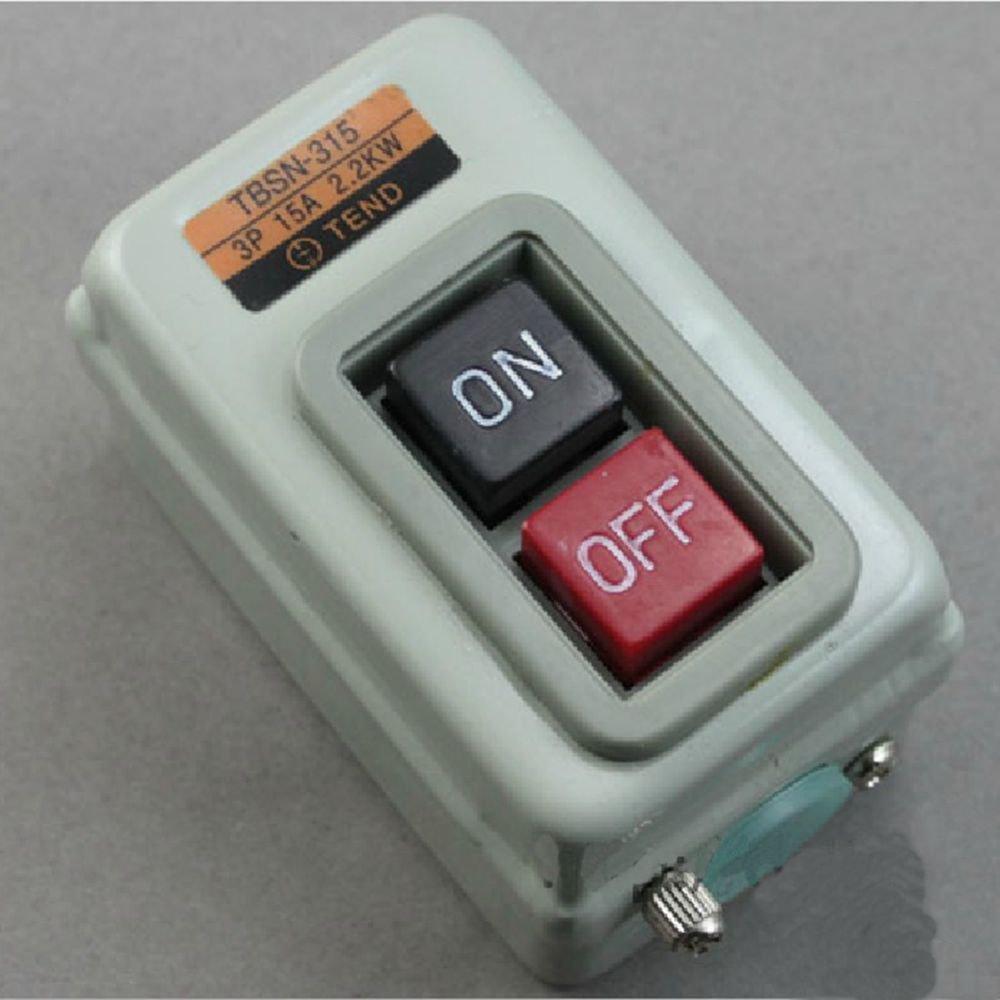 1 piece TBSN-315 (CBSN-315) 3P Power Pushbutton Switch 15A 2.2KW