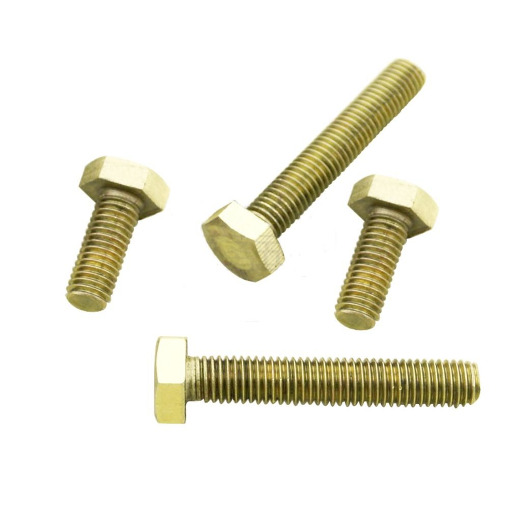 (50) Metric Thread M4*35mm Brass Outside Hex Screw Bolts