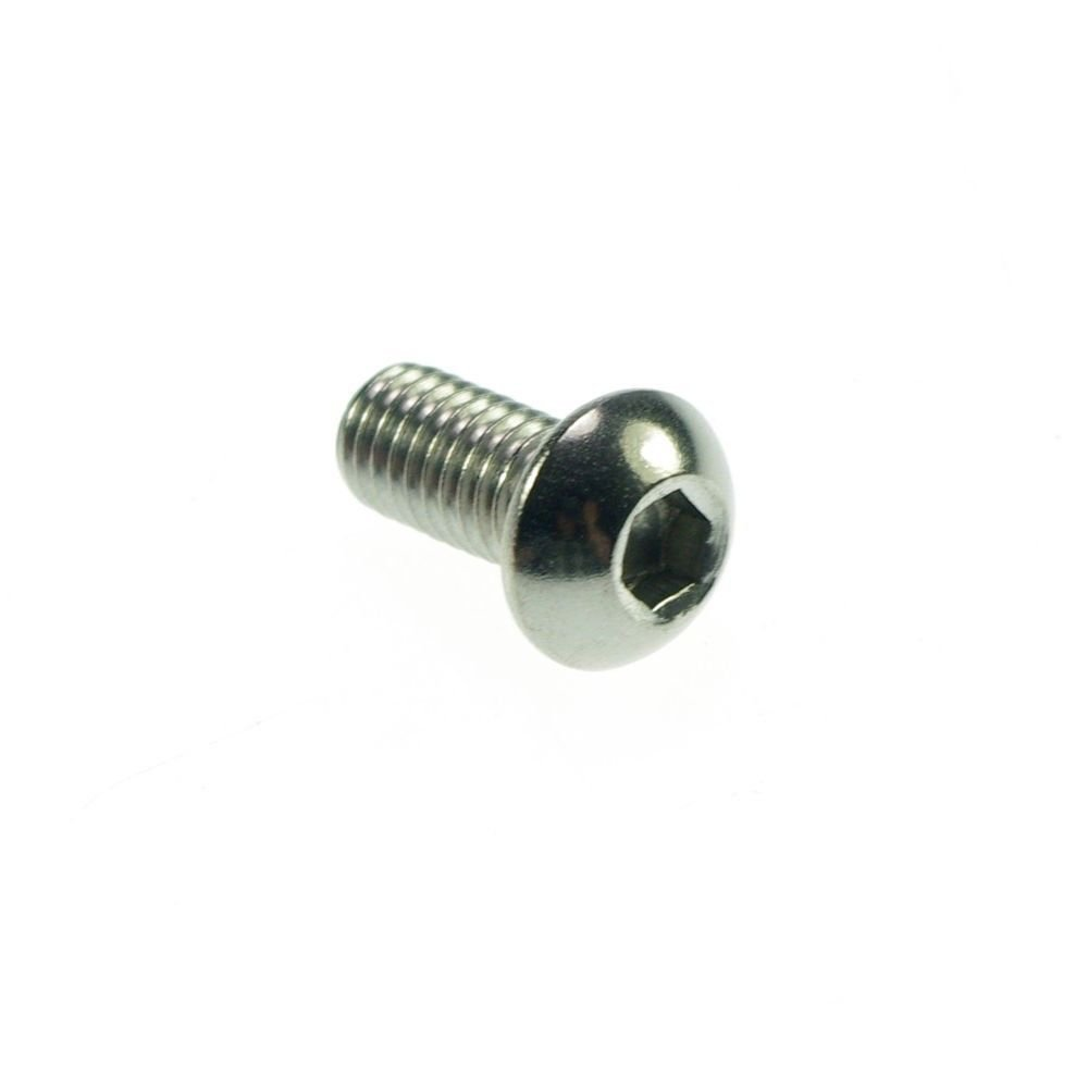 (100) Metric Thread M5*8mm Stainless Steel inside Round Hexagon Bolts Screws