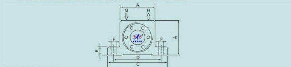 """1PCS G 1/4"""" Industrial  New Pneumatic Turbine Vibrators Golden GT-20"""