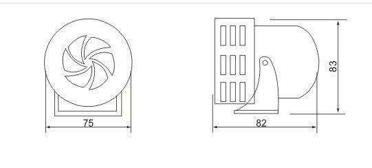1PCS 220VAC 120dB Red MS-190 Mini Metal Motor Siren Industrial Alarm Sound