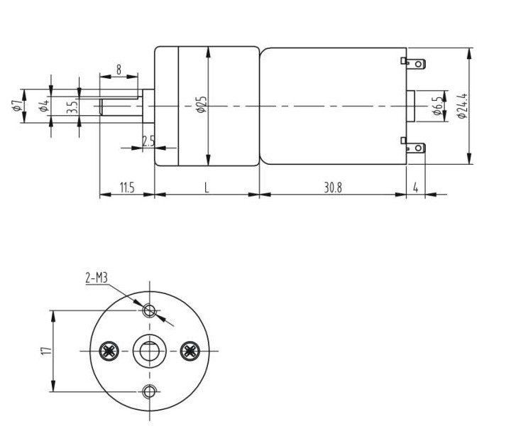12VDC 24 RPM Heavy Duty Gearhead DC Motor Compact High Speed Geared