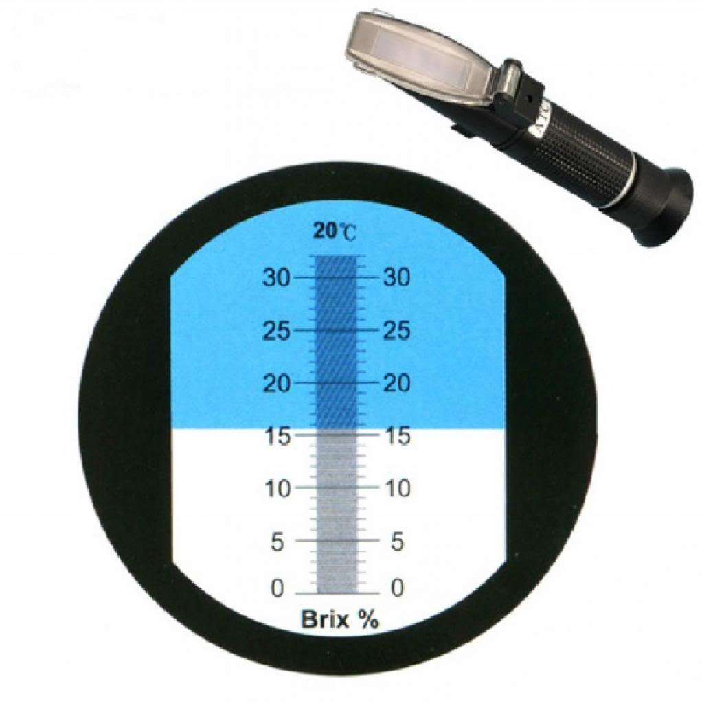 Plastic Physical optics saccharimeter refract meter 0-32% Brix