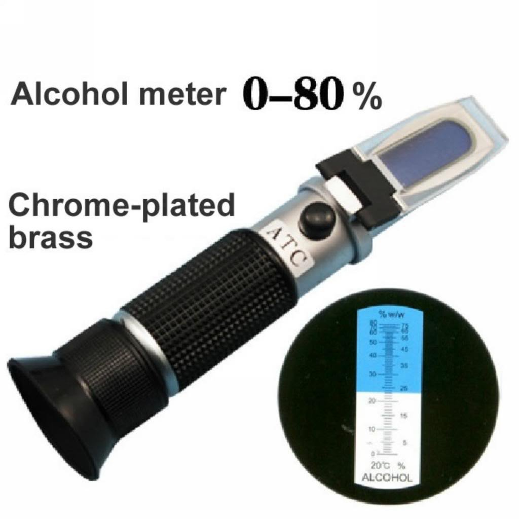Physical optics alcohol meter refract meter 0-80% ethanol concentration meter