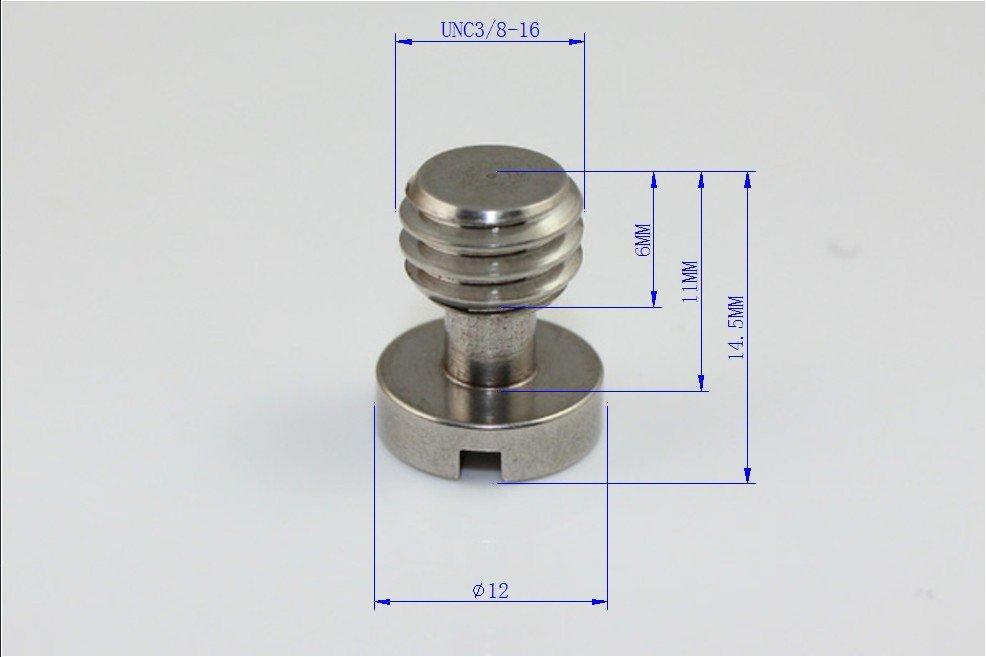 (1) 3/8' ' BSPT Tripod Camera Screw Stainless Steel Camera Flat-head Screw