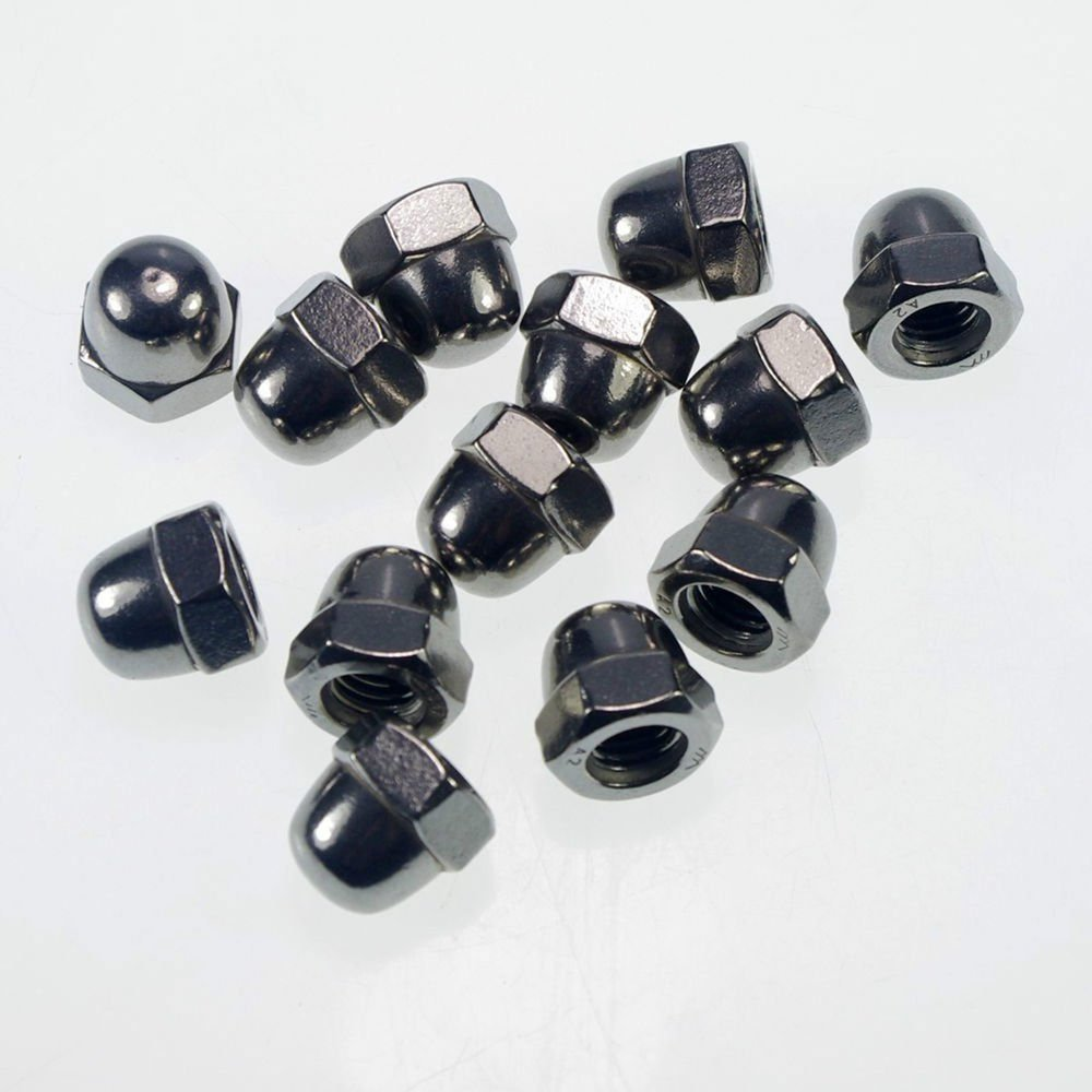 (4) Metric M6 304 Stainless Steel Hex Head Dome Cap Protection Cover Nuts