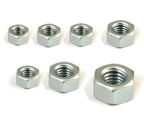 200pcs Metric M3 Hex Nickel Plated Steel Screw Nuts Registered Mail Freeship