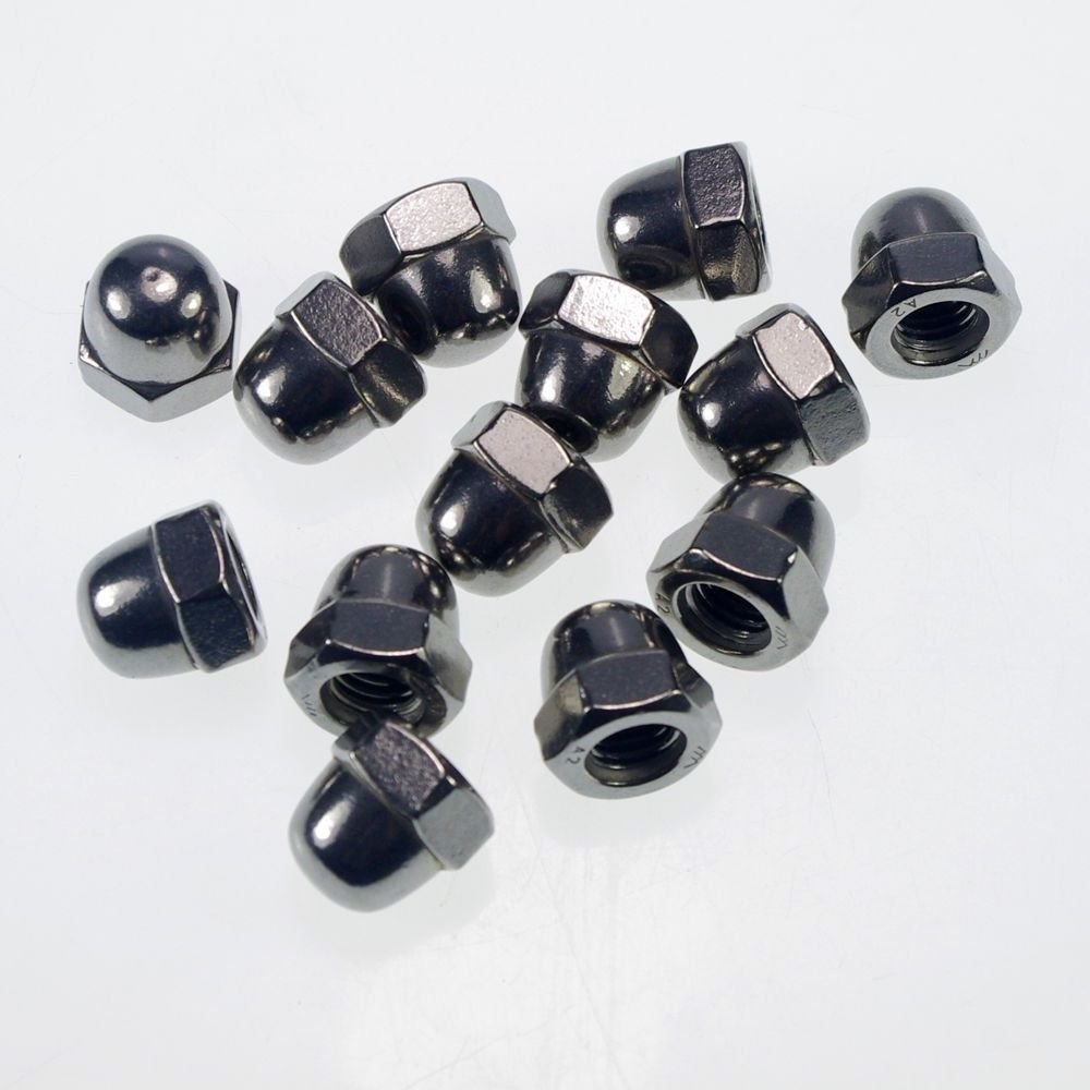 (10) Metric M6 304 Stainless Steel Hex Head Dome Cap Protection Cover Nuts