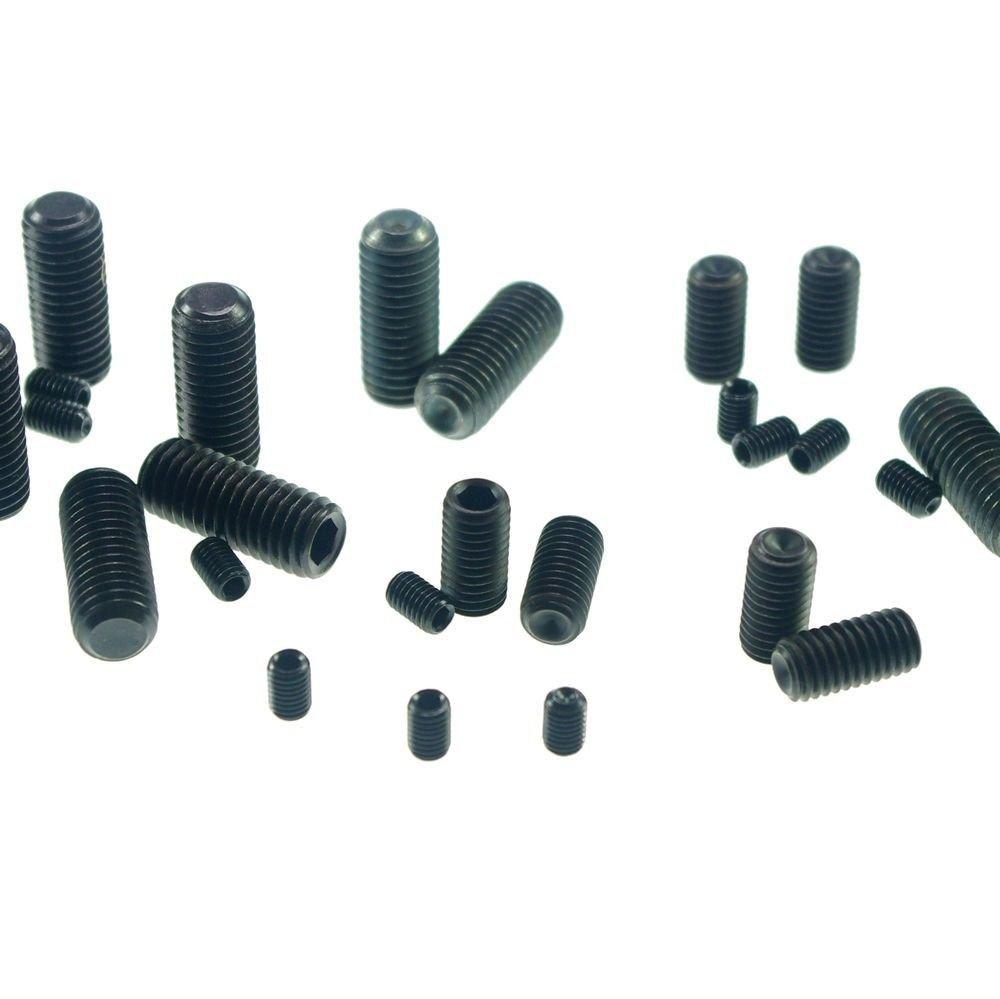 (20) M6*30mm-M12*70mm Hex Socket Set Grub Screws Metric Threaded flat-head