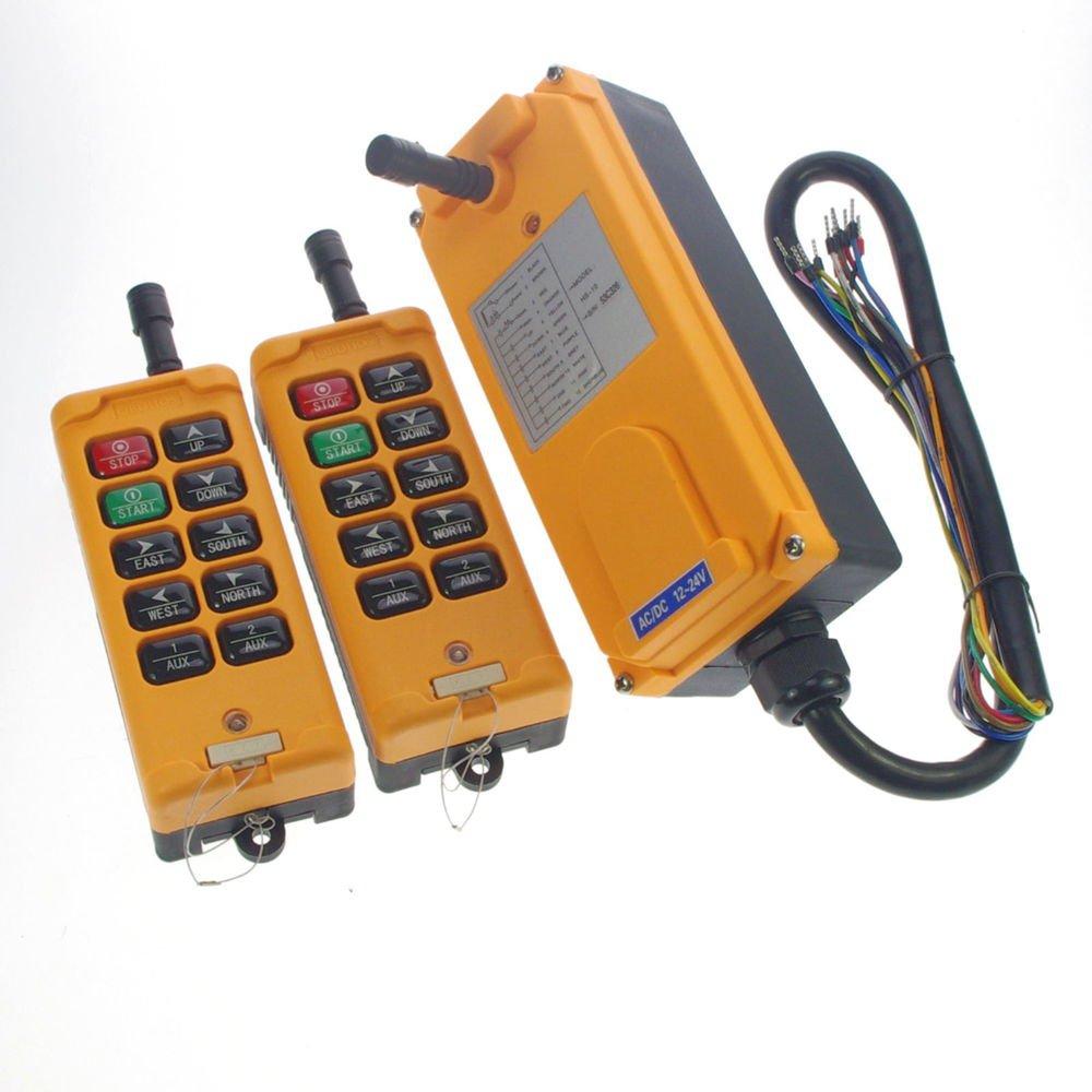 380VAC 10 Channels 1 Speed Hoist Truck Crane Remote Controller System CE IP65