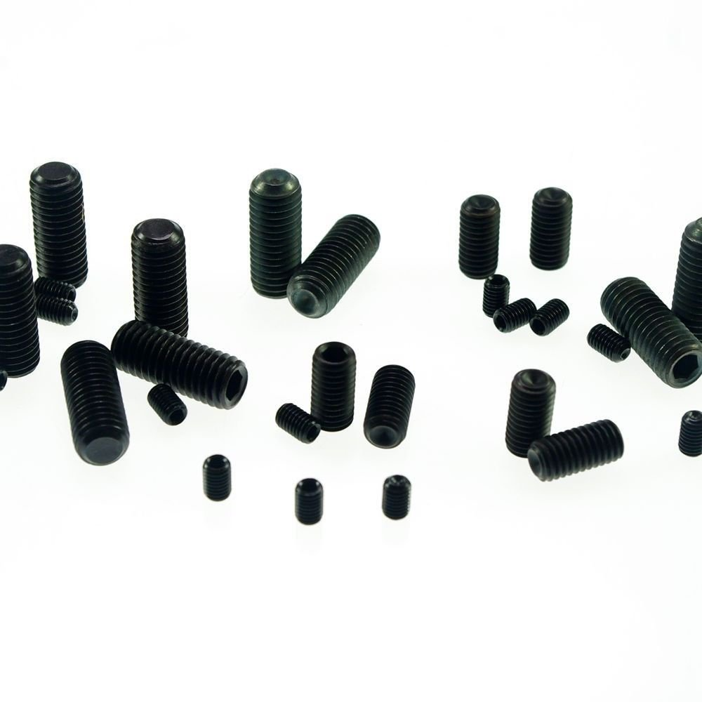 �100� M3x5mm Head Hex Socket Set Grub Screws Metric Threaded Cup Point