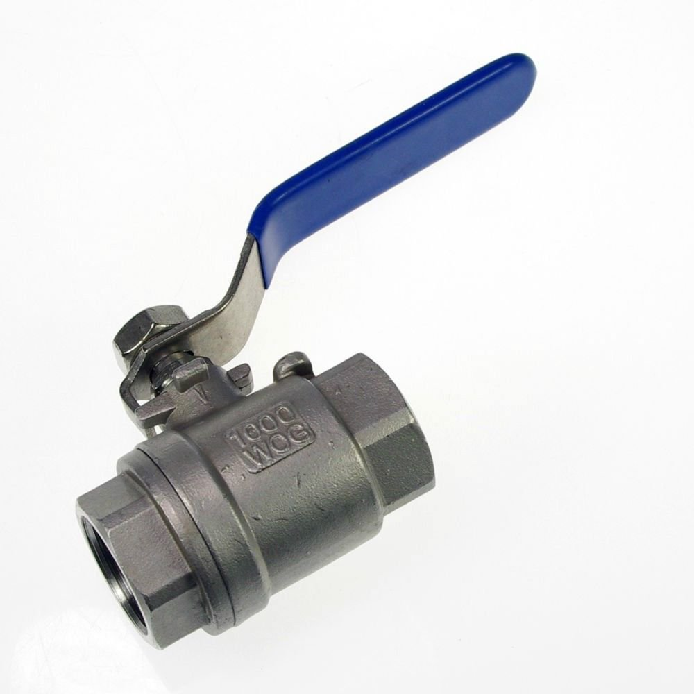 "1PCS DN15 G1/2"" Female Straight Full Ports 304 Stainless Steel Ball Valve"