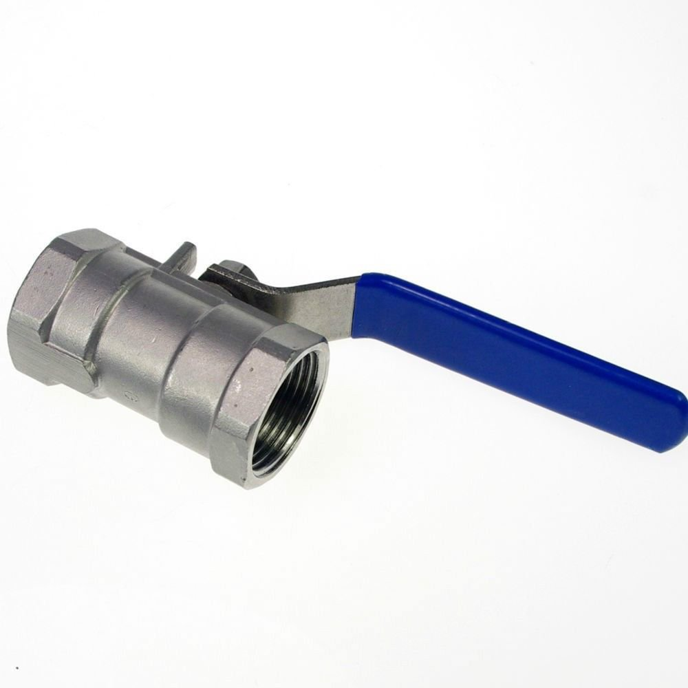 """(1) DN50 G2"""" Female Reducer Ports 304 Stainless Steel one-piece Ball Valve"""