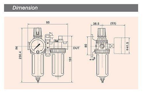 "1PCS SFC-400 PNEUMATIC AIR FILTER REGULATOR LUBRICATOR BSP 1/2"""