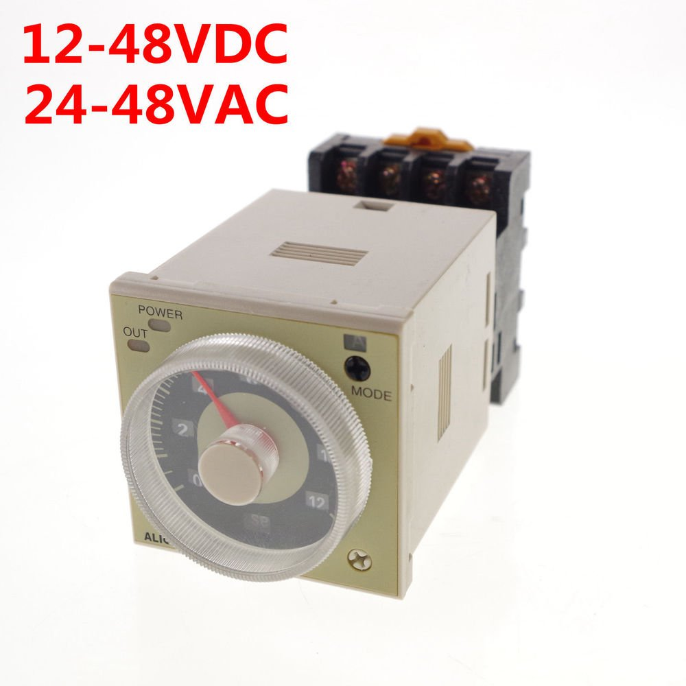 12-48VDC/24-48VAC Time Delay Multi-functional Timer H3CR-A DPDT 11Pins &Socket
