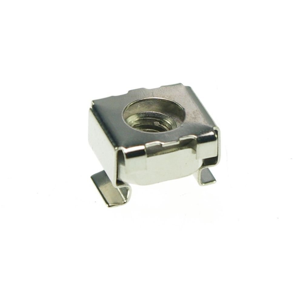 �25� Metric Steel M6 Retainer Cage Clip On Square Nuts Freeship to Worldwide