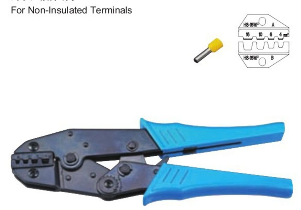 Non-Insulated Terminals Ratchet Crimping Tool Plier Crimper 4-16mm2 AWG16-8