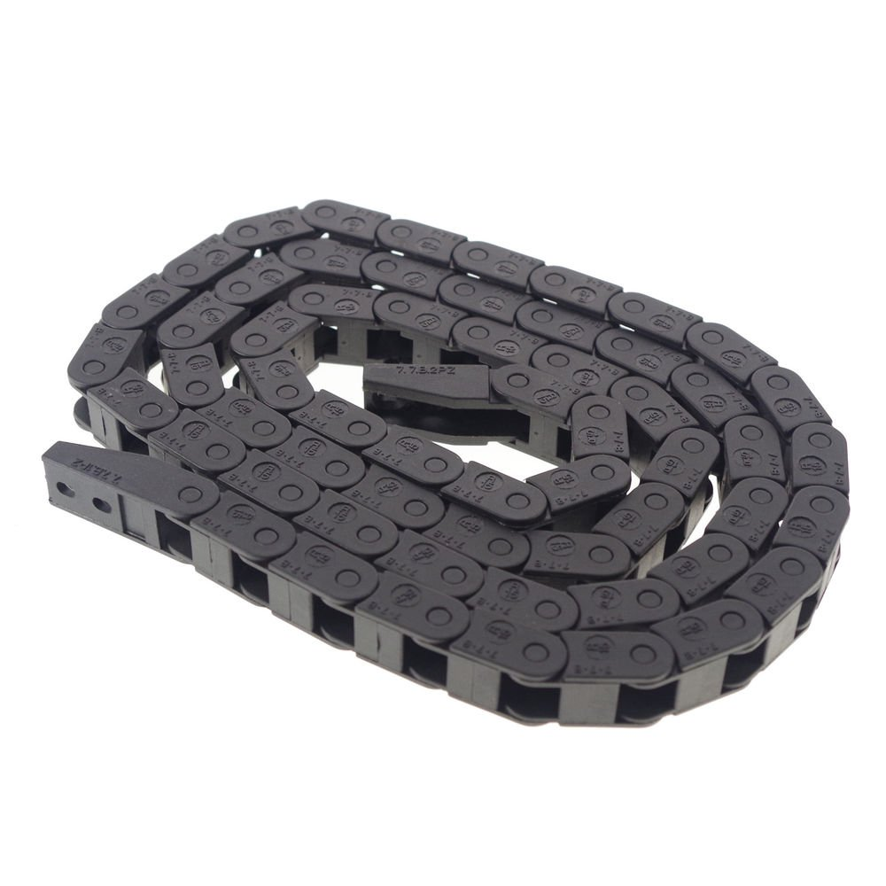 1m(3.28ft) 7 x 7 mm Cable drag Chain Radius 15mm Wire Carrier 7*7 With End Fits