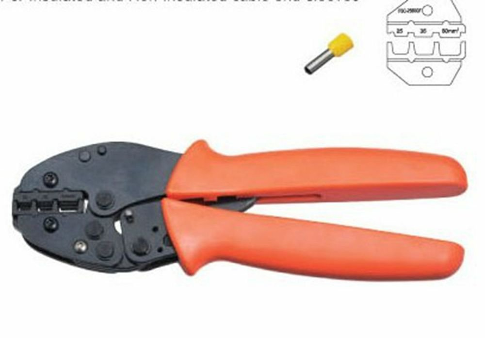 Cable End-sleeves Wire Crimping Plier Crimper 25,35,50mm2 AWG 4-1