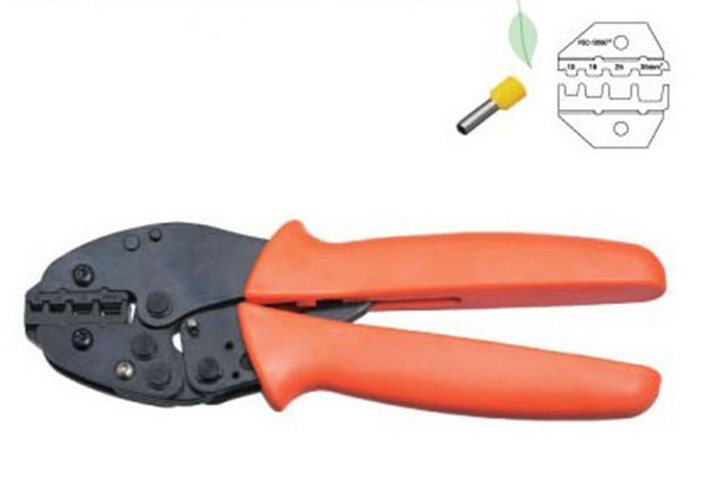 Cable End-sleeves Wire Crimping Plier Crimper 10,16,25,35mm2 AWG 8-2