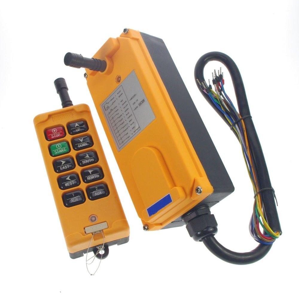 110V 4 Motions 1 Speed Hoist Crane Truck Radio Remote Control System Controller