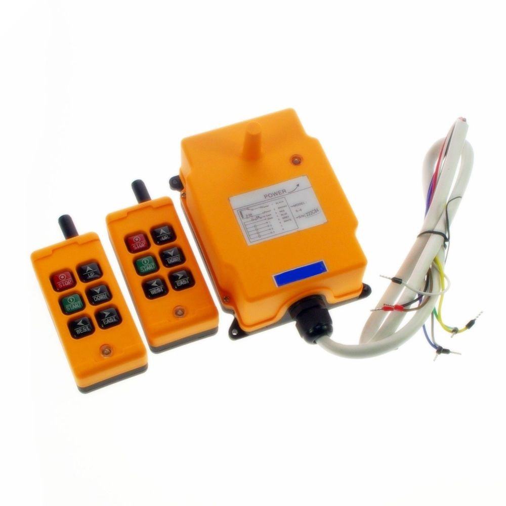 220V 2 Transmitters 2 Motions 1 Speed Hoist Crane Truck Remote Control System CE