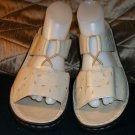 11 CLARKS Stretch Mules SANDALS Shoes Slip on SOFT CUSHY Pretty Eyelet Leather