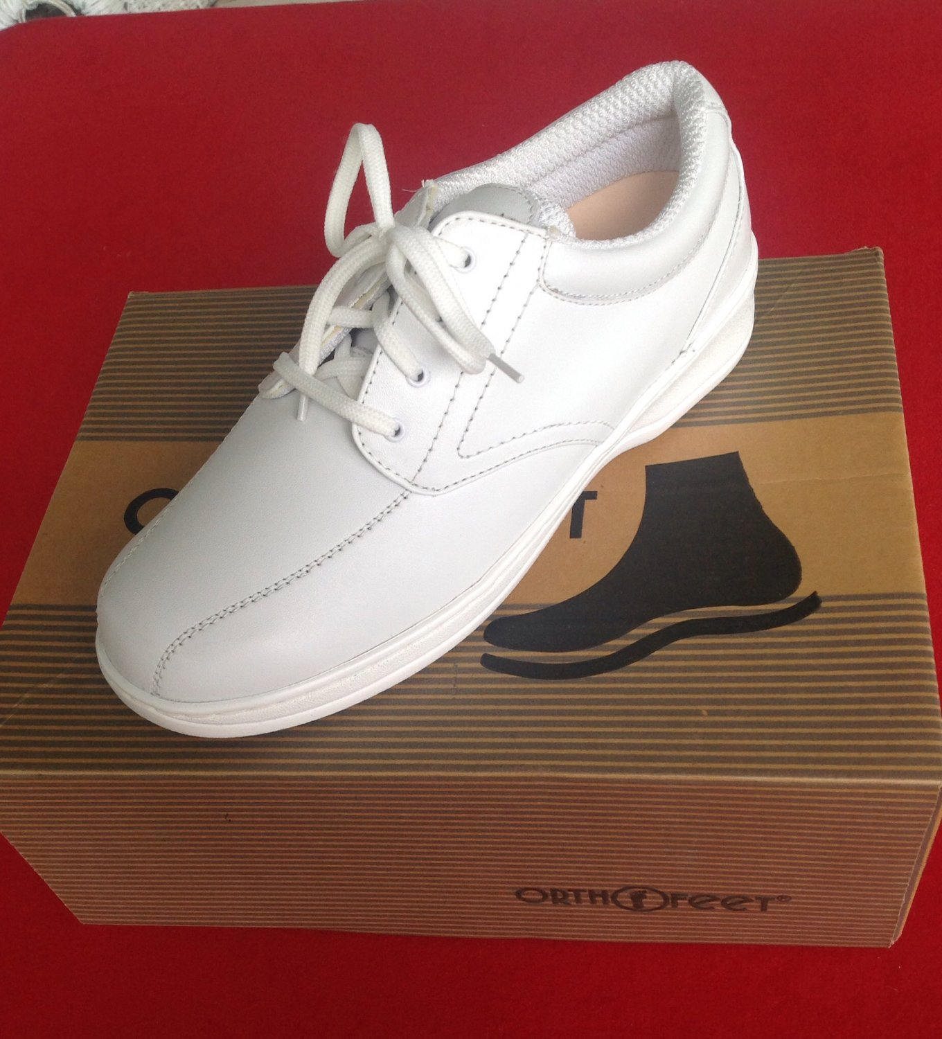 Women's Orthofeet white. Oxford shoes 8 m