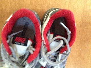 Mens Nike Free TR gray/red sneakers 8.5 $25