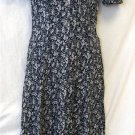 All That Jazz 9 10 Navy Blue Floral SS Button Front Long Casual Rayon Dress