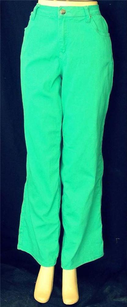 NEW Earl Jean 18W 2X Bright Green Rhinestone 5 Pocket Cotton Blend Jeans