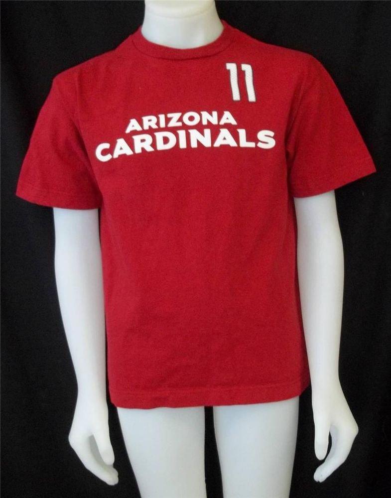 Reebok Youth Large 14 16 Red Football AZ Cardinals Larry Fitzgerald SS T Shirt