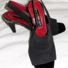 "Bandolino 6 M B Black Sling Back Square Open Toe 3"" Square Heel Shoes"