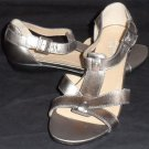 "Canyon River Blues Brushed Gold 1"" Low Heel Open Toe Sandal 7-1/2 M 7-1/2 Medium"