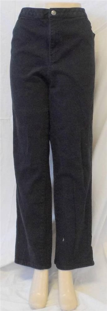 L.A. Blues Wilshire Sz 7 Average 2X Yellow Square Black Straight Leg Denim Jeans