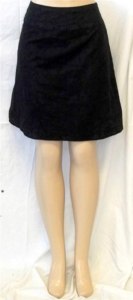 Richard Malcolm Sport 6 Small Black Eyelet Lace A Line Knee Length Lined Skirt