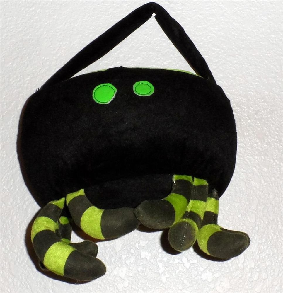Halloween Candy Tote Bag Tom's International Toys (HK) Black Fur Lime Spider