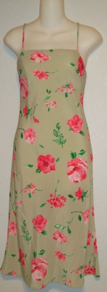 Charlotte Russe Small Junior 3 5 Light Green Floral Print Spaghetti Strap Dress