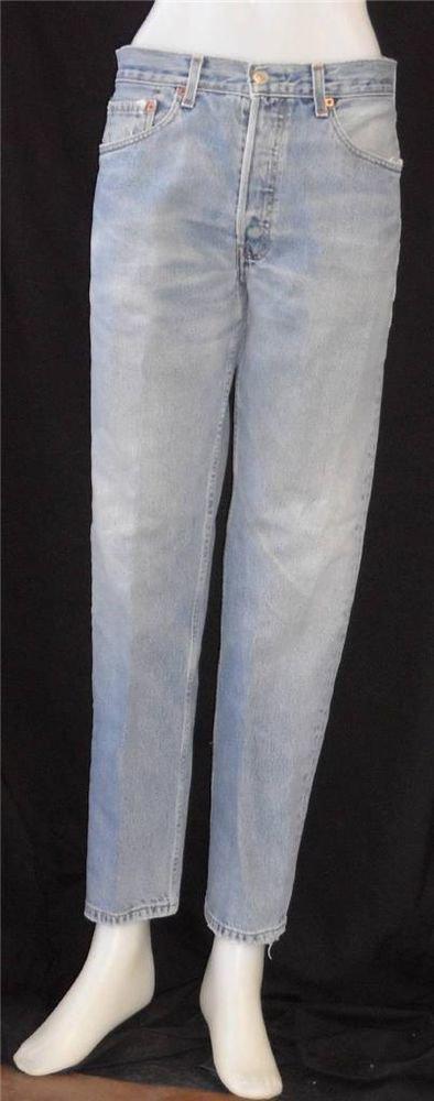 W32 L32 Levi Strauss 511 Skinny Medium Wash Mid-rise Denim Blue Jeans