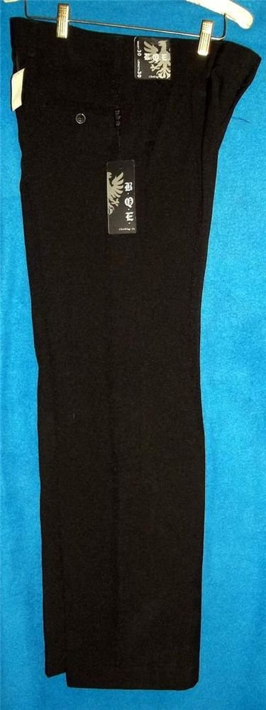 New BQE B.Q.E. 32 Waist 30 Length 32W 30L Black Pleated Men's Dress Career Pants