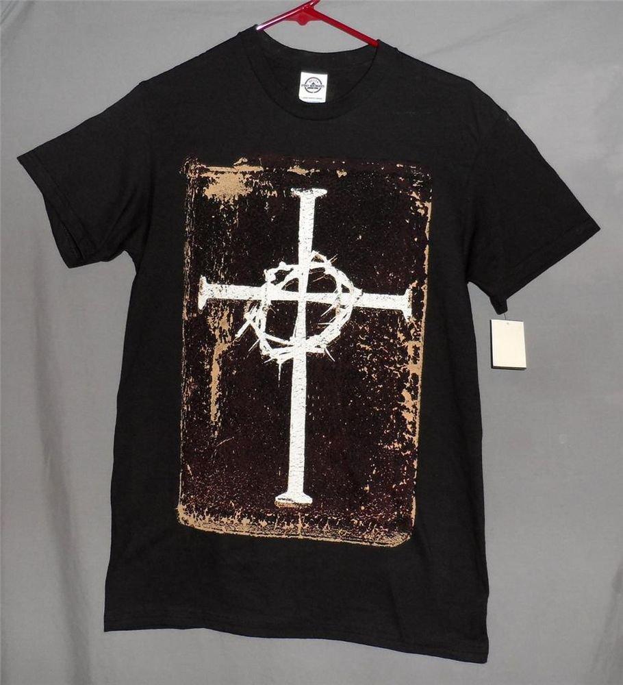 New Celtic Cross Thorns Christian Small Men's Black Cotton SS Graphic T-Shirt