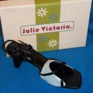 "NEW Jolie Victoria Shoes 6.5 8 8.5  Medium Width Strappy Black Buckle 3"" Heels"