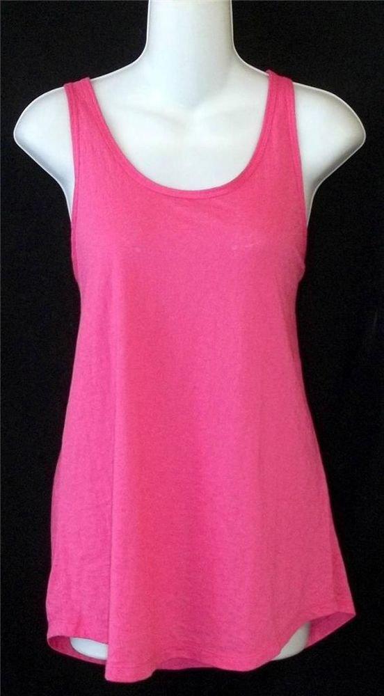 NEW Apana XL 16 18 Hot Pink Opaque Sleeveless Tank Top Yoga Active Wear Fitness