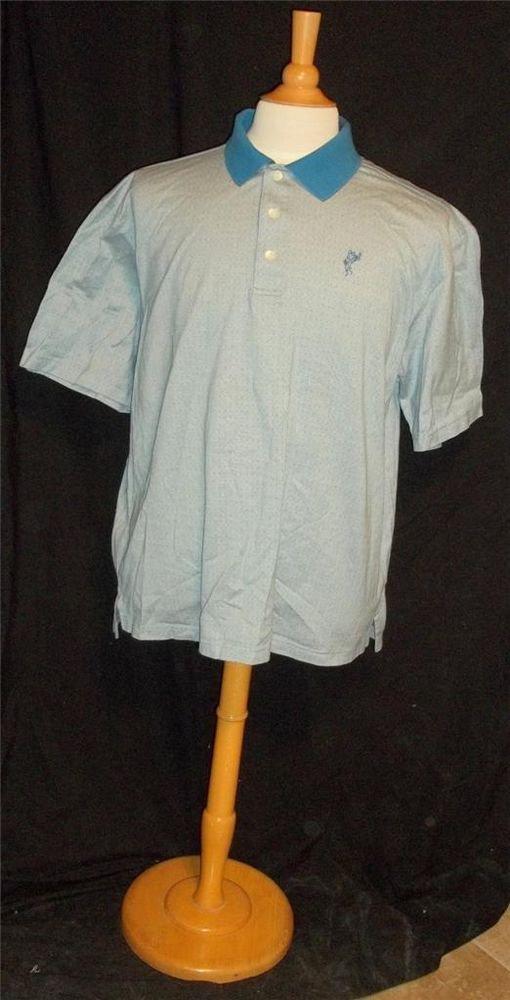 Ashworth Men's XL Extra Large Royal Blue SS Polo Golf Shirt Cotton Double Knit
