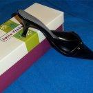 NEW Jolie Victoria Shoes Tansy X 6  6.5  6-1/2 Medium B  Black Mule Kitten Heel