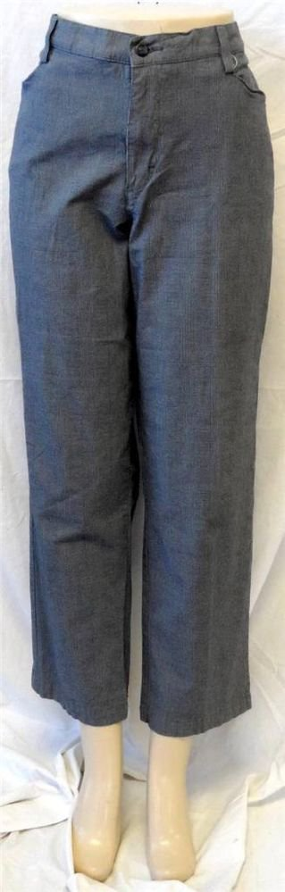Lee At the Waist 16 XL Short Business Career Casual Gray Plaid Pants
