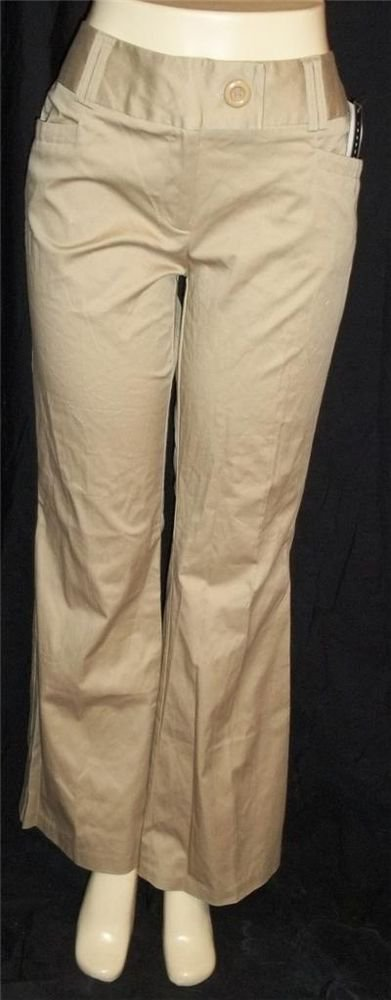 NEW Ingredients Craig Beige Polished Cotton Pants 6 Small 10 Medium 12 Large