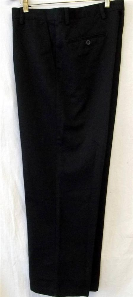 NEW Dockers D4 Black 34W x 29L True Chino Relaxed Fit Flat Front Pants